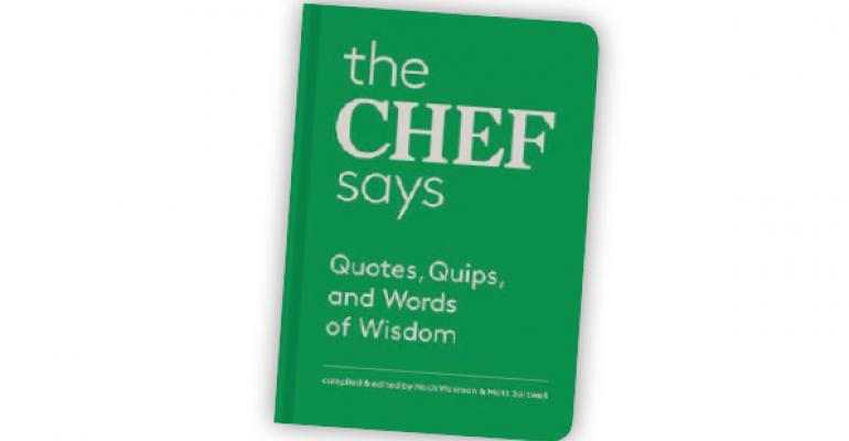 Book Review: The Chef Says: Quotes, Quips and Words of Wisdom