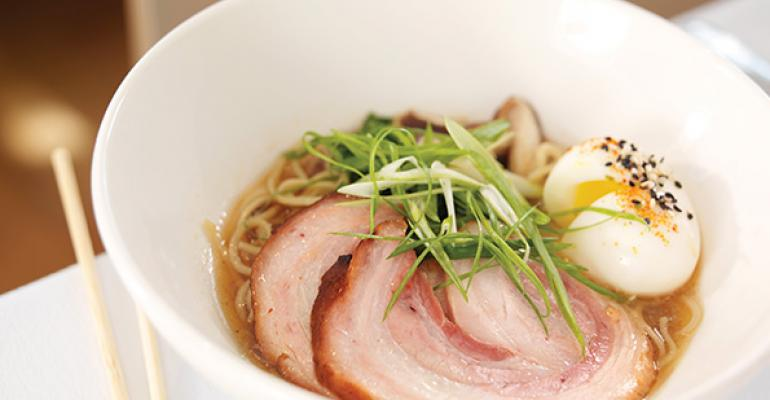 Braised Pork Belly with House-made Ramen Noodles, Soft-Poached Egg and Rich Pork Broth