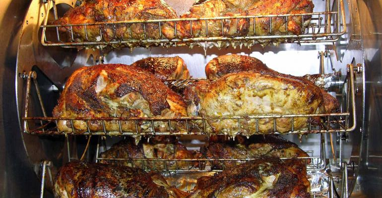 Rotisserie chicken at the University of North Carolina Hospitals39 new Carved concept