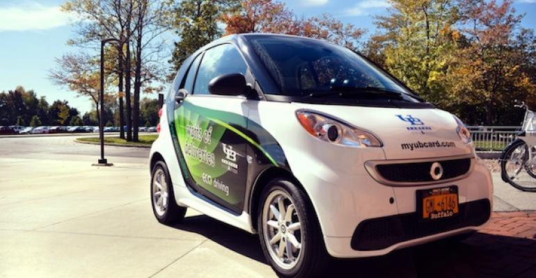 Electric Car Piloted as Campus Food Delivery Vehicle