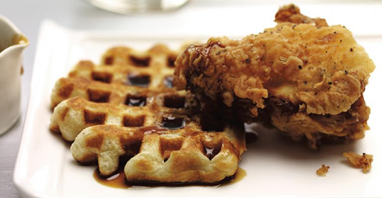 Fried Chicken and Waffles with Molasses Cider Syrup