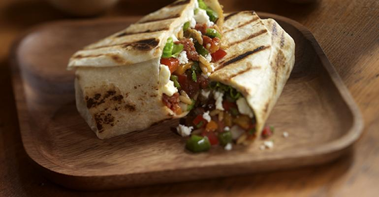 Grilled Spicy Sausage Burritos