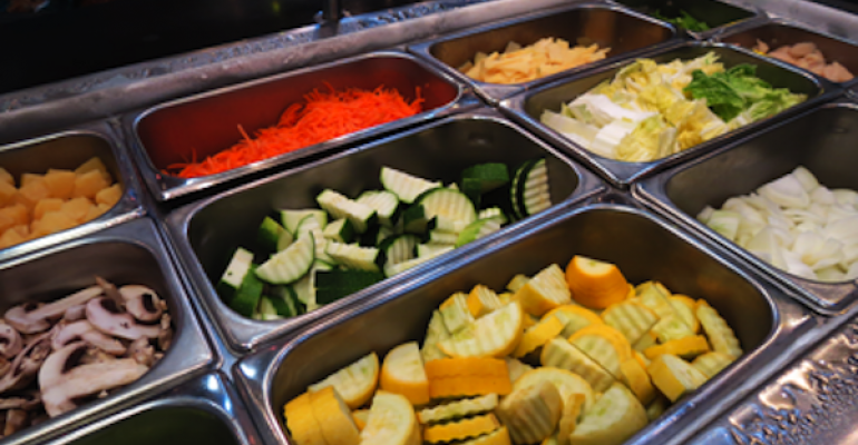 Some of the more than 20 fresh veggie options students can choose for their stir fry at OSU39s Hard Wok Grill