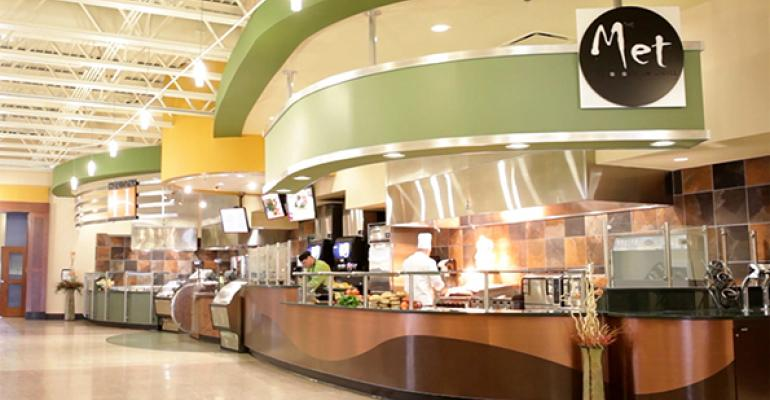 AVIrsquos Met grill station in the Weisenfluh dining center at Slippery Rock University