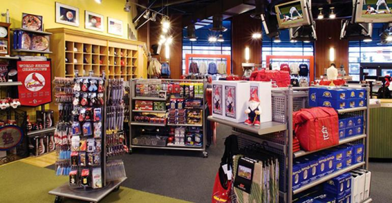 Delaware North operates retail fan stores for Major League Baseball client St Louis Cardinals