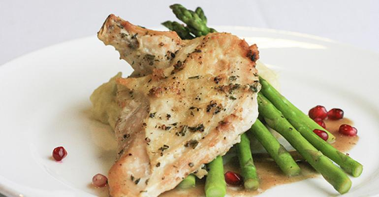 This Rosemary Pomegranate Chicken dish is one of the offerings of Lancerrsquos catering operation