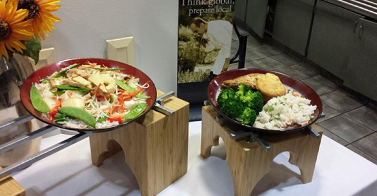 Display plates at a recently opened Prince client location