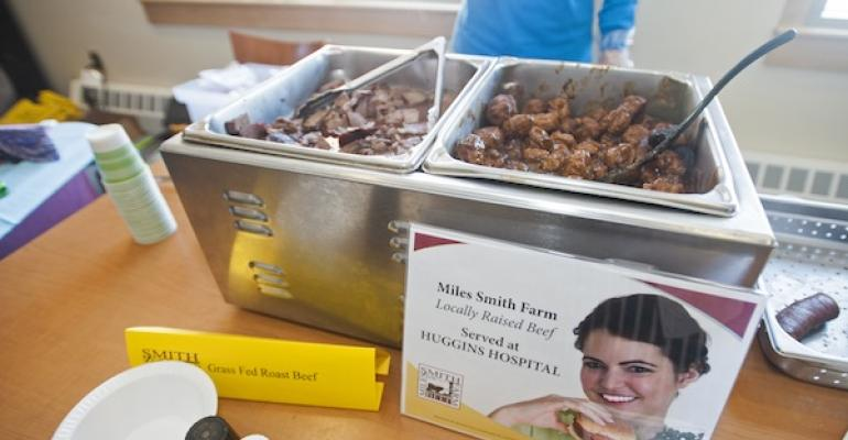 An Employee Appreciation Day event introduced Huggins Hospital39s new partnership with local beef supplier Miles Smith Farm