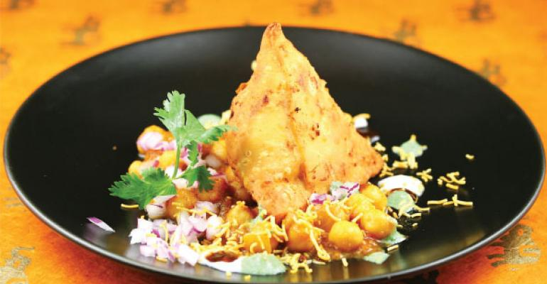 The Samosa Chaat part of a limitedtime offer at Georgia Tech brings the colors and fun of the Hindu festival Holi to one exciting appetizer