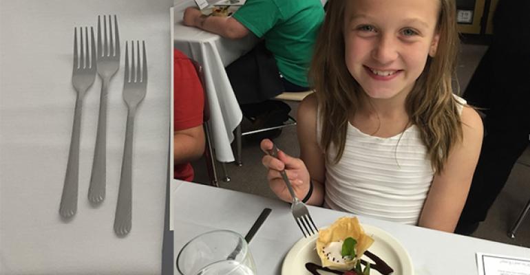 Third-graders enjoy Fine Dine event