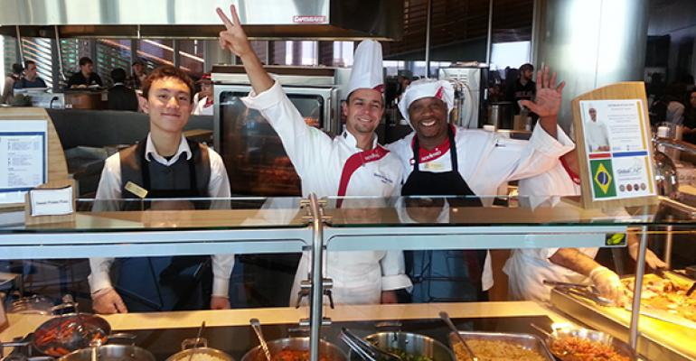 CHEF IN RESIDENCE Sodexo39s new program at USC brings chefs like Marcelo de Castro Alves from Brazil center to visit for a whole semester