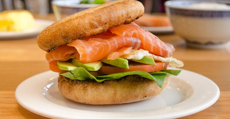 Salmon Avocado Breakfast Sandwich