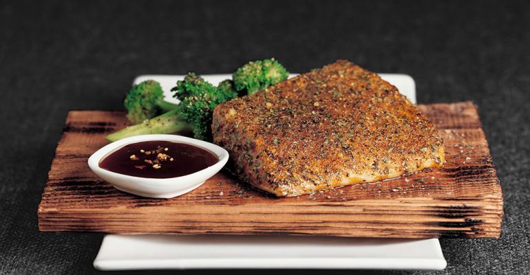 Cedar Planked Roasted Salmon
