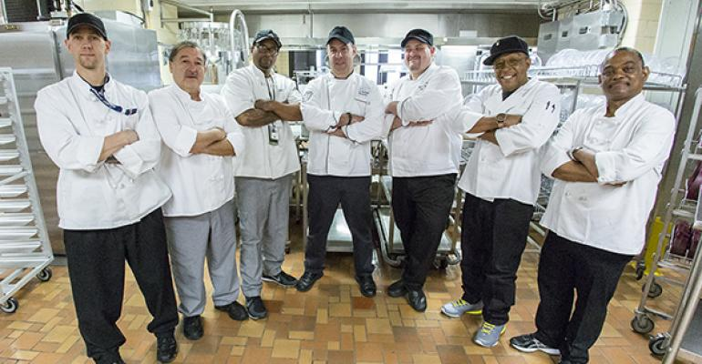 TEAMWORK Rex Healthcare39s Black Hat Chefs worked side by side with the crew at the Denver VA Medical Center