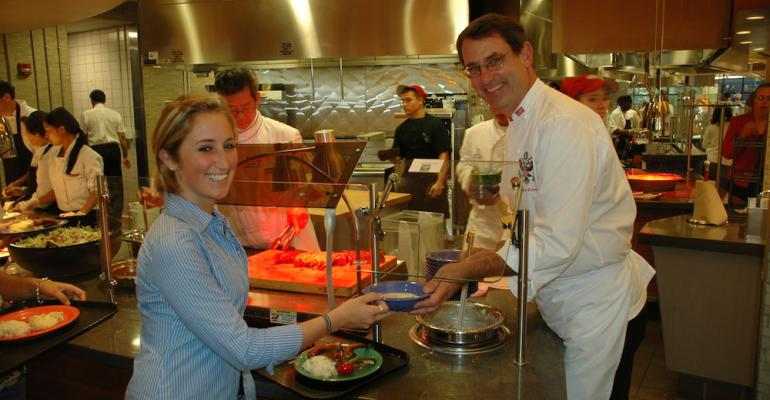 Former White House executive chef Walter Scheib appeared as part of a guest chef series at the University of MassachusettsAmherst in 2007 where he worked with UMass chefs to create a special series of dishes for members of the campus community