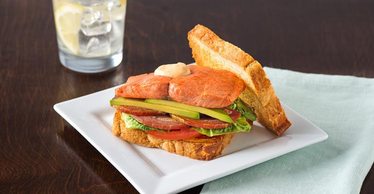 Salmon PLTA Sandwich