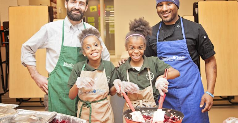 Group uses school cafeterias for market, cooking demo events