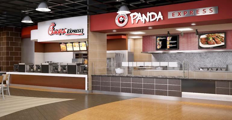 UTDallas39 renovated Student Union Dining Hall will feature a Panda Express and a larger ChickfilA when it reopens in fall 2015
