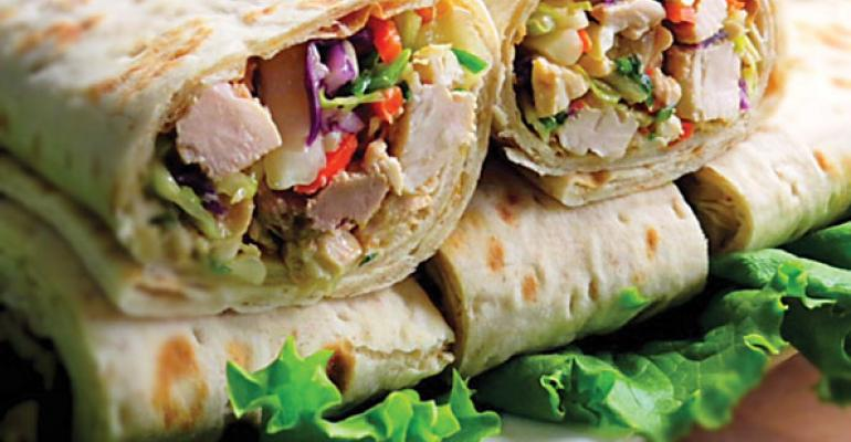 HEALTHY AND TASTY USCrsquos sesame ginger chicken wrap was developed by chefs to offer betterforyou options