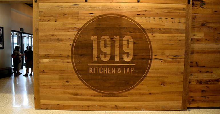 Door at the entrance to 1919 Kitchen amp Tap
