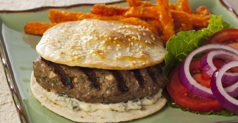 Moroccan Spiced Lamb Burger