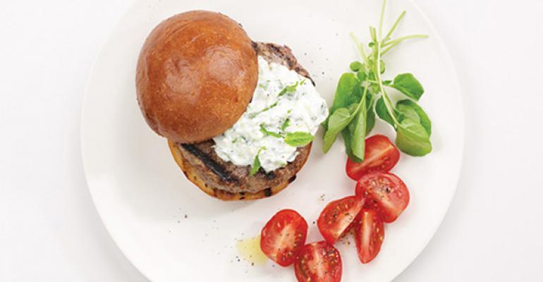 Tzatziki Lamb Burger