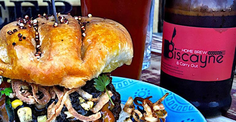 Southwest Beef and Mushroom Burger