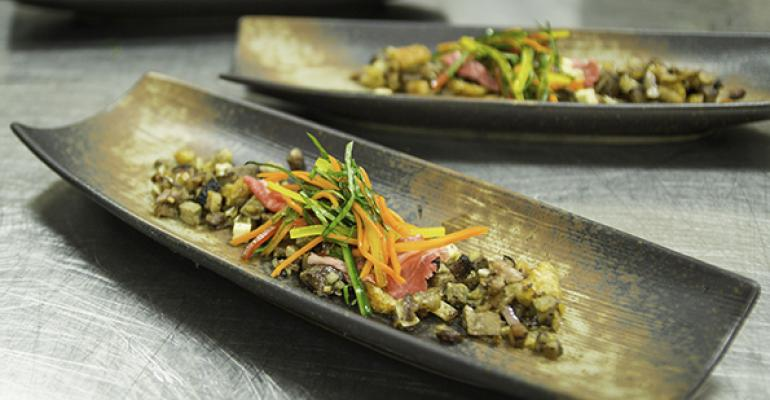 Minced and mixed with vegetables beef becomes part of the whole rather than the main attraction at both RampDE Stanford Diningrsquos special event foodservice