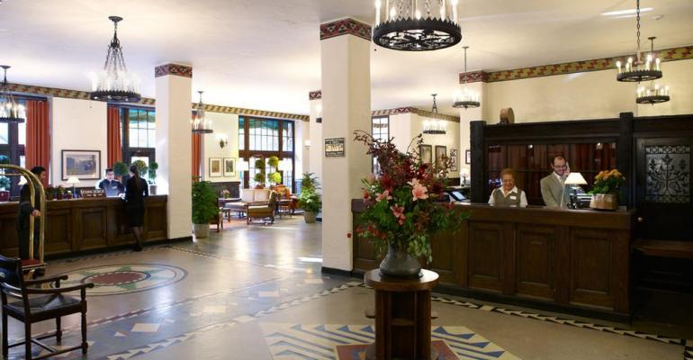 The lobby of the Ahwahnee one of the place names for which intangible property rights are in question in an action brought by DNC Parks amp Resorts against the National Park Service