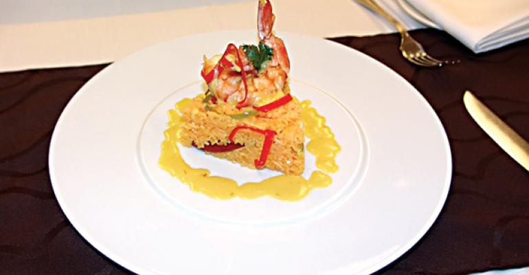 Arroz con Camarones is a favorite dish of Daniel Concepcion of Zappos who grew up in New York and moved to Puerto Rico when he was 14 years old