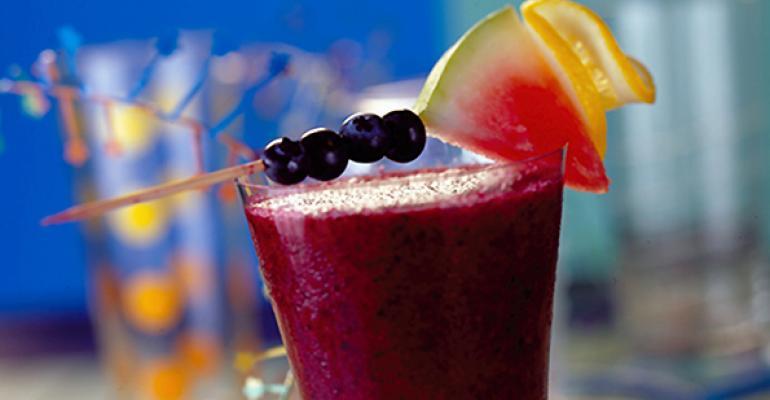 Blueberry-Watermelon Frosty Smoothie
