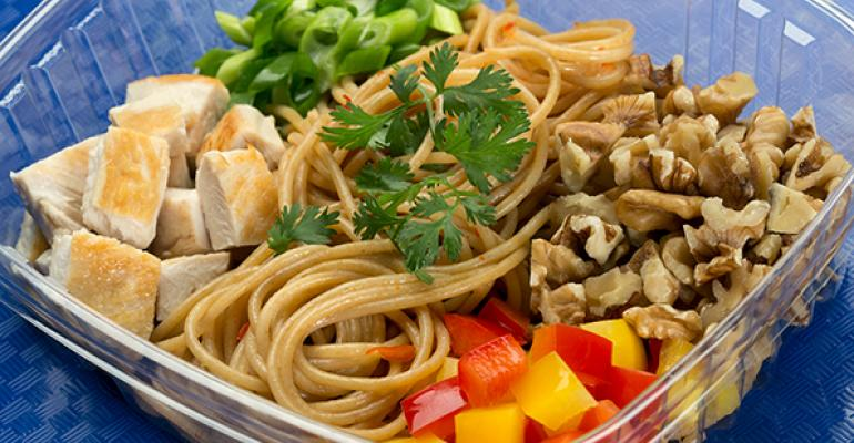 Thai Chili Garlic Walnut Whole Grain Noodle Salad