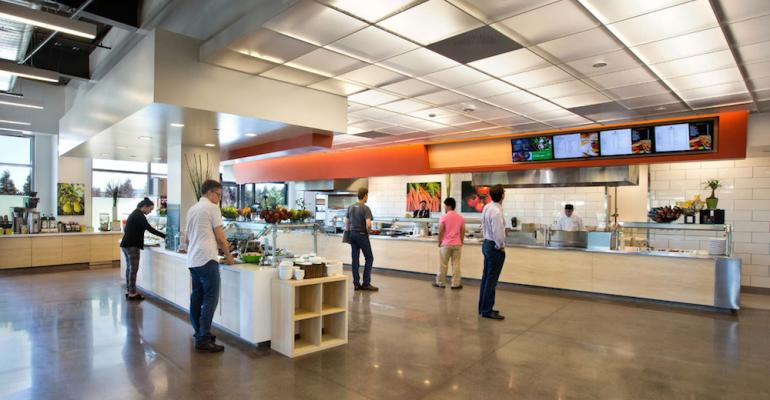 The 8200squarefoot Arcade Cafe serves a growing multitenant corporate complex in Santa Clara Calif