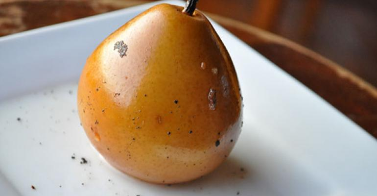 Agave Vanilla Poached Pears