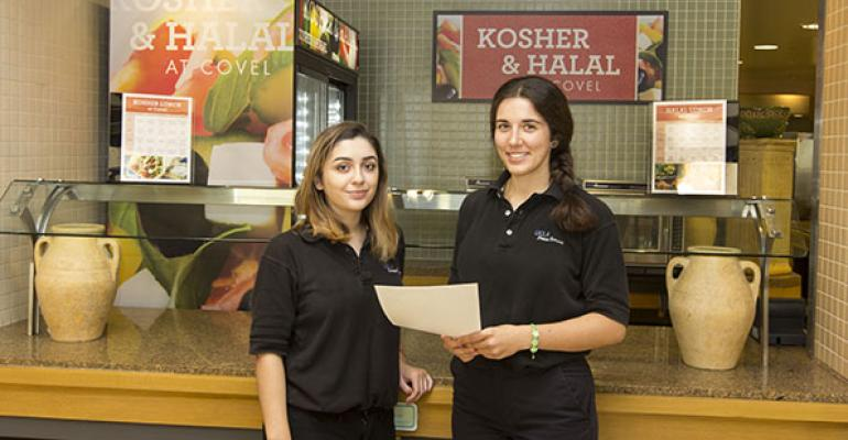 Students following a halal or kosher diet can purchase a supplemental meal plan to buy prepackaged meals that meet those dining requirements