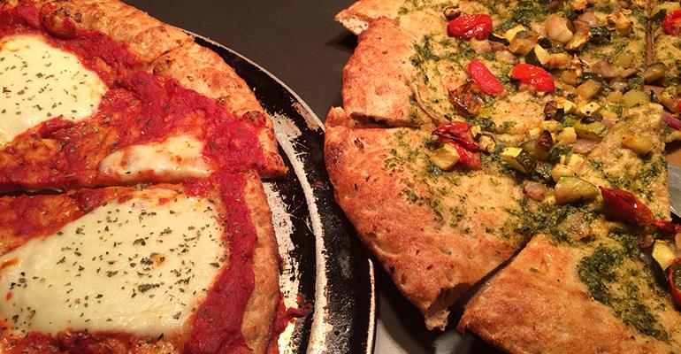 PLANTBASED PIZZA Veggie pizzas were one item in the spotlight for Food Day which aims to show how creative plantbased menu items can be