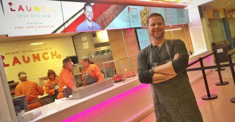 CLEVELAND PROUD Chef Chris Hodgson is the latest local chef to pop up in Aramarkrsquos new test kitchen concept at the Quicken Loans Arena