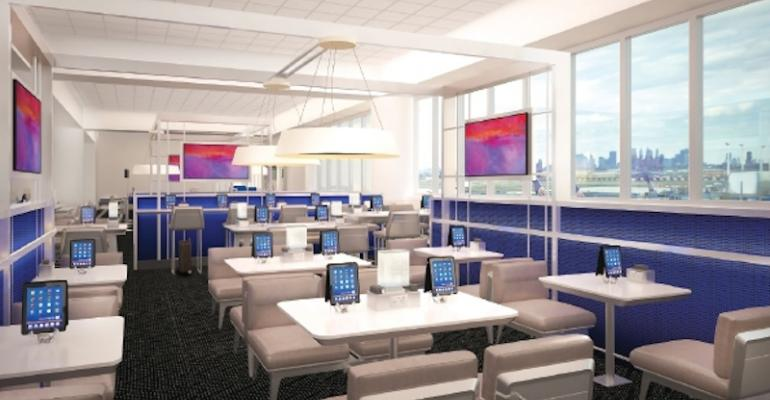 OTG Experience39s iPadequipped concierge lounge area at Newark Liberty International Airport