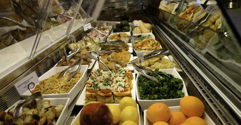 The selection of entree sides on display for patrons of Corner Mercantile in downtown Pittsburgh39s PNC Tower