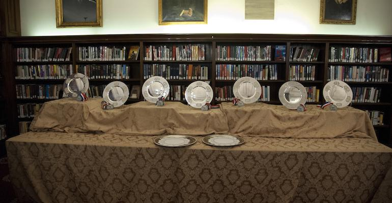 The Silver Plate Awards on display at last year39s Gold amp Silver Plate Awards ceremony