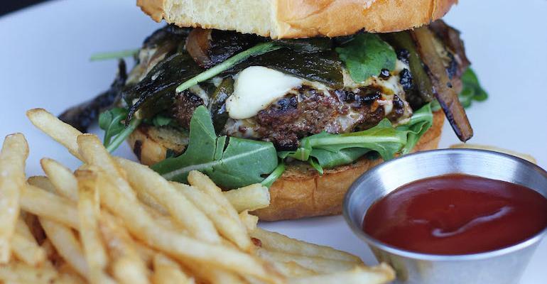 Blended mushroom burger at USC