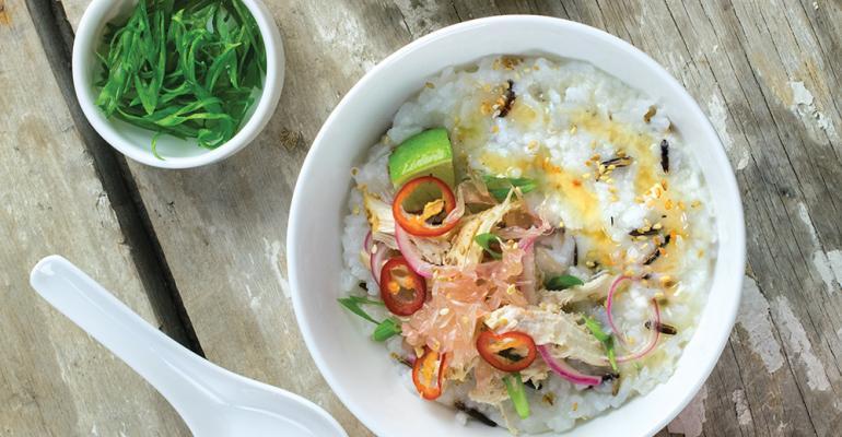 Honey swirled Asian-inspired porridge