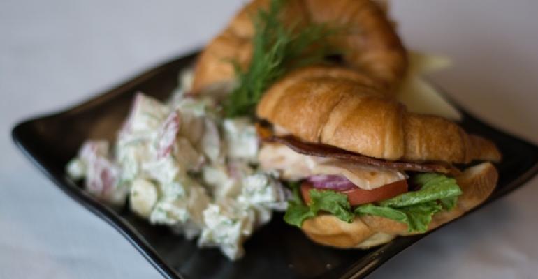 Mapleglazed chicken sandwich at the University of Vermont