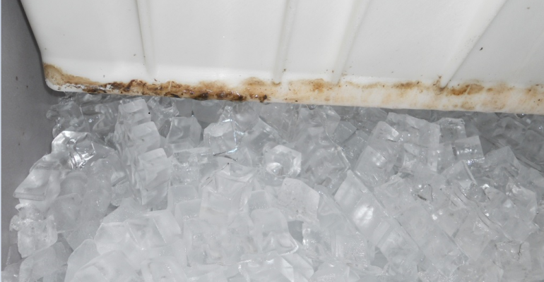 When is the last time you checked hardtoreach places like an ice machine for cleanliness