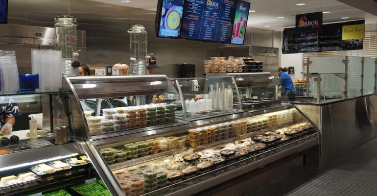 Kabob with its Middle Eastern themed cuisine is one of the latest food stations to open in Detroit Medical Center39s new Midtown Marketplace food emporium