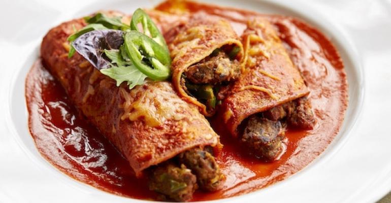 Spicy Black Bean and Poblano Enchiladas