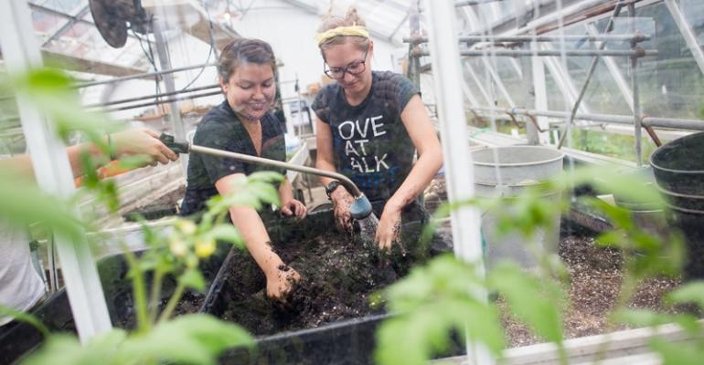 A solar powered hoop house enables Chatham39s Eden Hall to grow crops even in the winter months