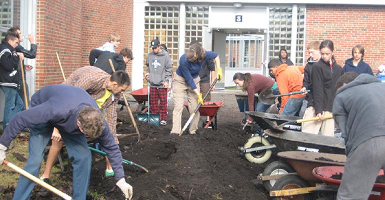 The garden is also a learning laboratory for students who do the vast majority of the planting and maintenance work