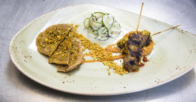 Grilled Lamb Kebabs with Peanut Six Ways