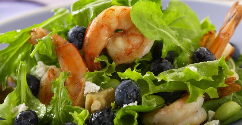 Blueberry-shrimp salad with lemon vinaigrette